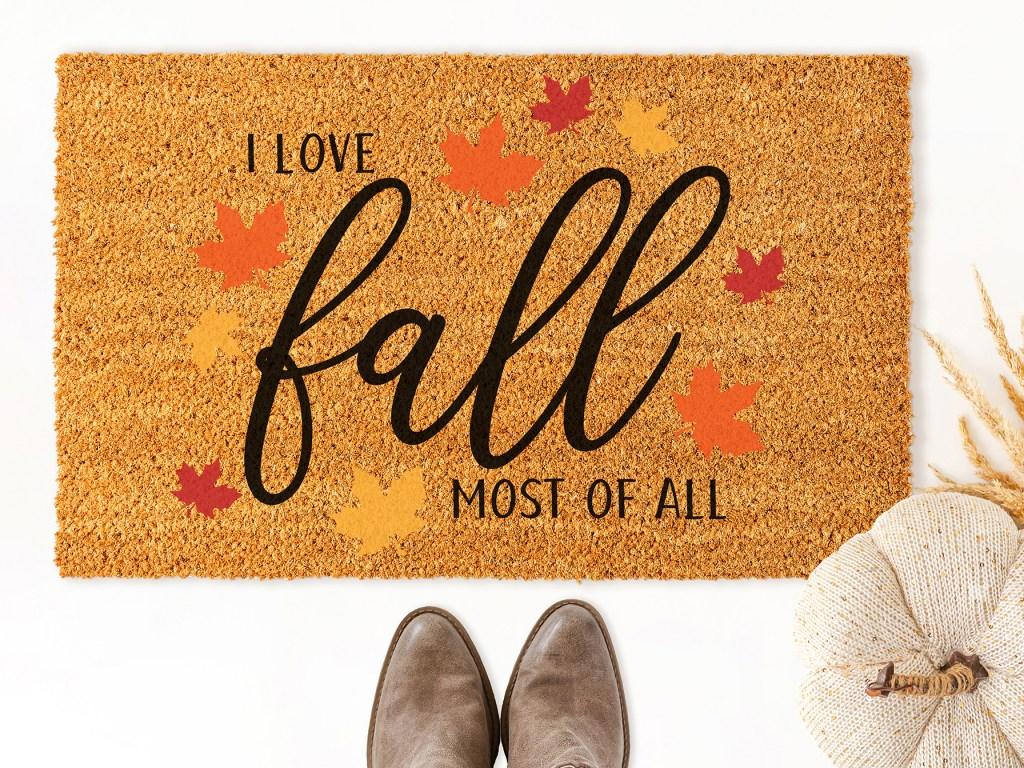 I Love Fall Most of All Doormat with Free SVG Cut File