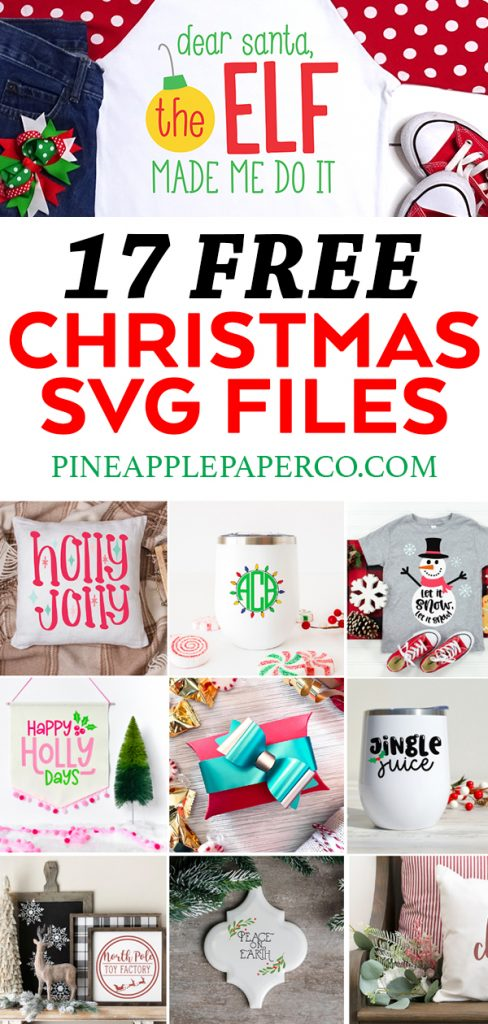 17 Free Christmas SVG Files