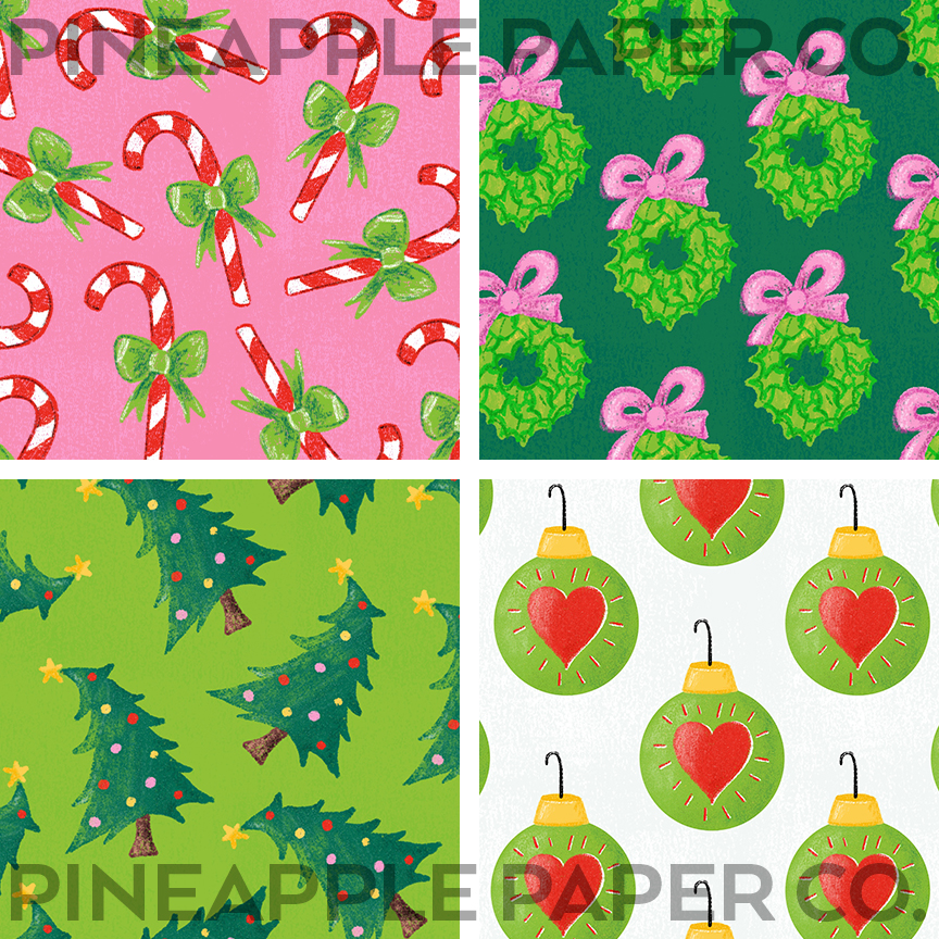 Grinch Christmas Aesthetic Patterned Icons