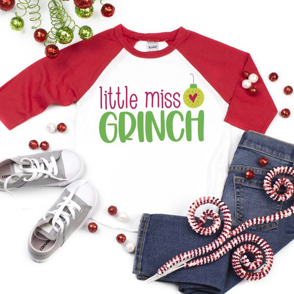 Little Miss Grinch SVG File on DIY Shirt