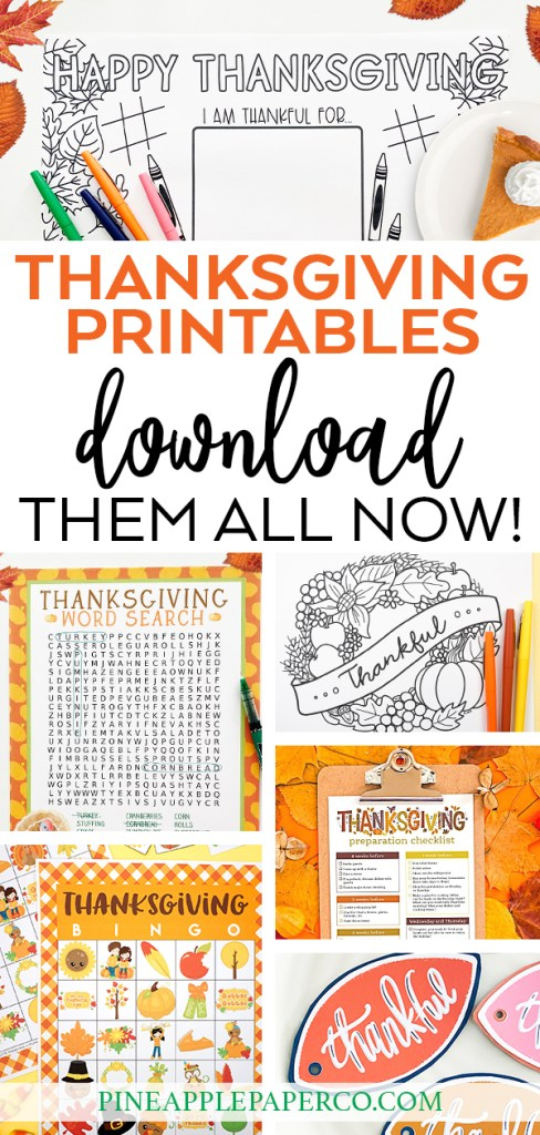 Thanksgiving Printables to Download Now