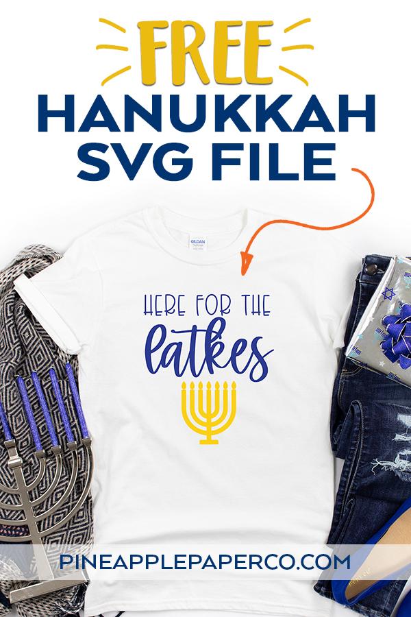 Free Hanukkah SVG File to Make a DIY Funny Hanukkah Shirt