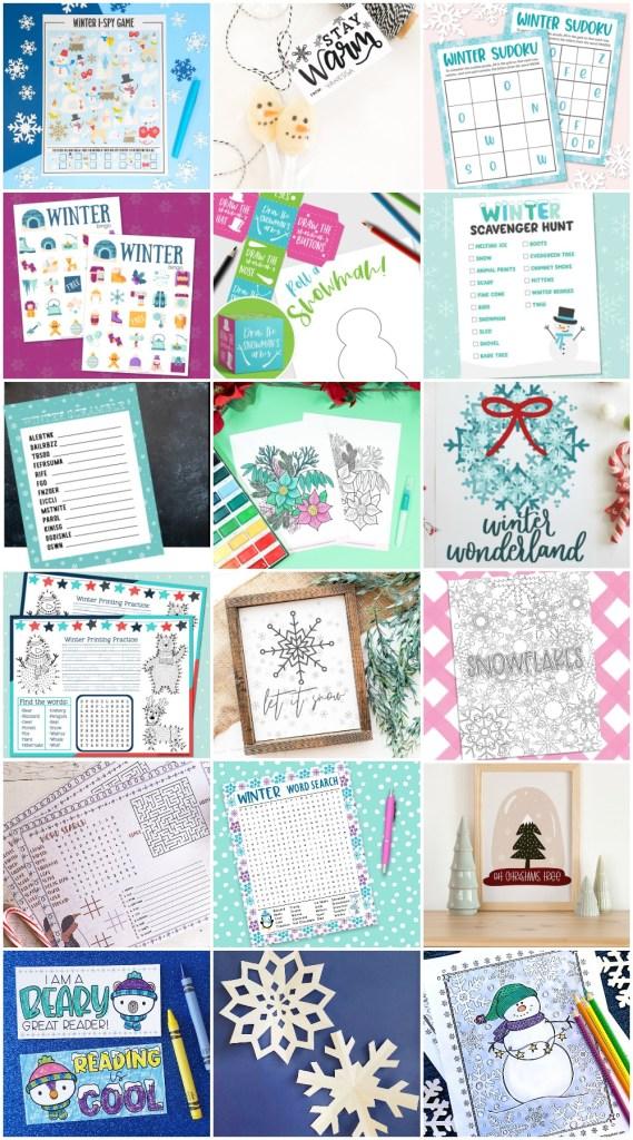 Free Winter Printable Activities