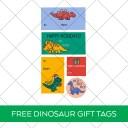Printable Dinosaur Gift Tag Stickers