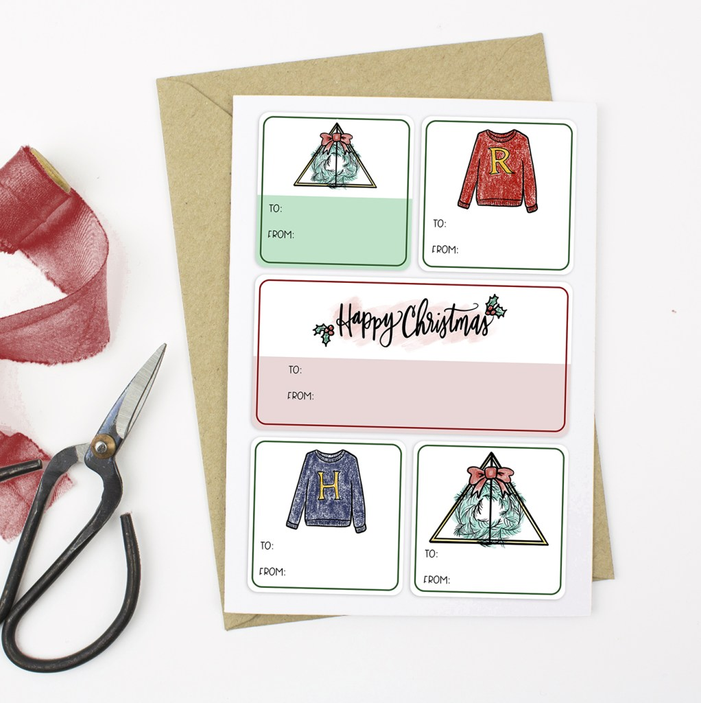 FREE Harry Potter Gift Tag Sticker Printable