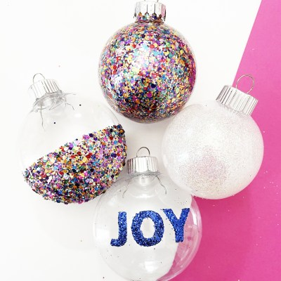 5 DIY Glitter Ornament Ideas