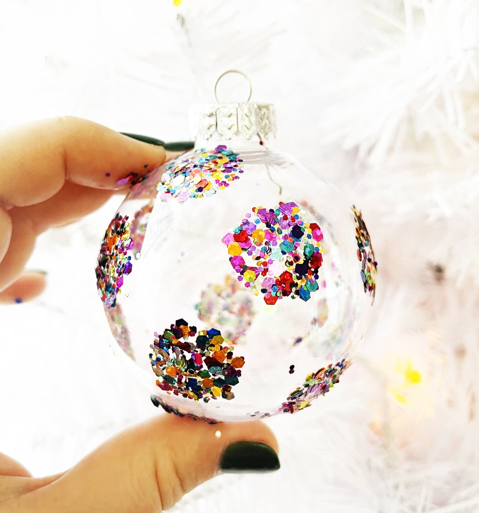 Mod Podge Glitter Polka Dot Ornament