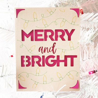 Cricut Joy Christmas Card SVG