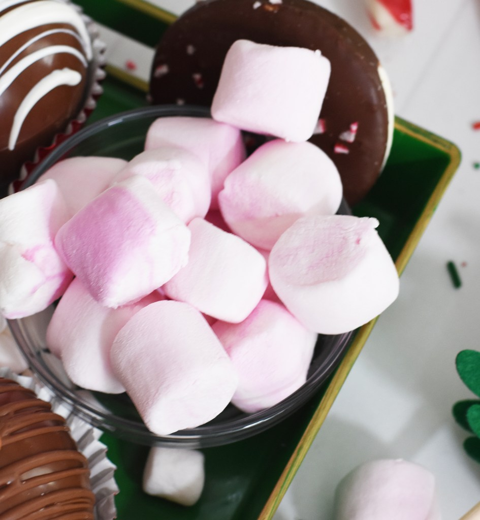 Peppermint Marshmallows for Hot Chocolate Bomb Charcuterie Tray