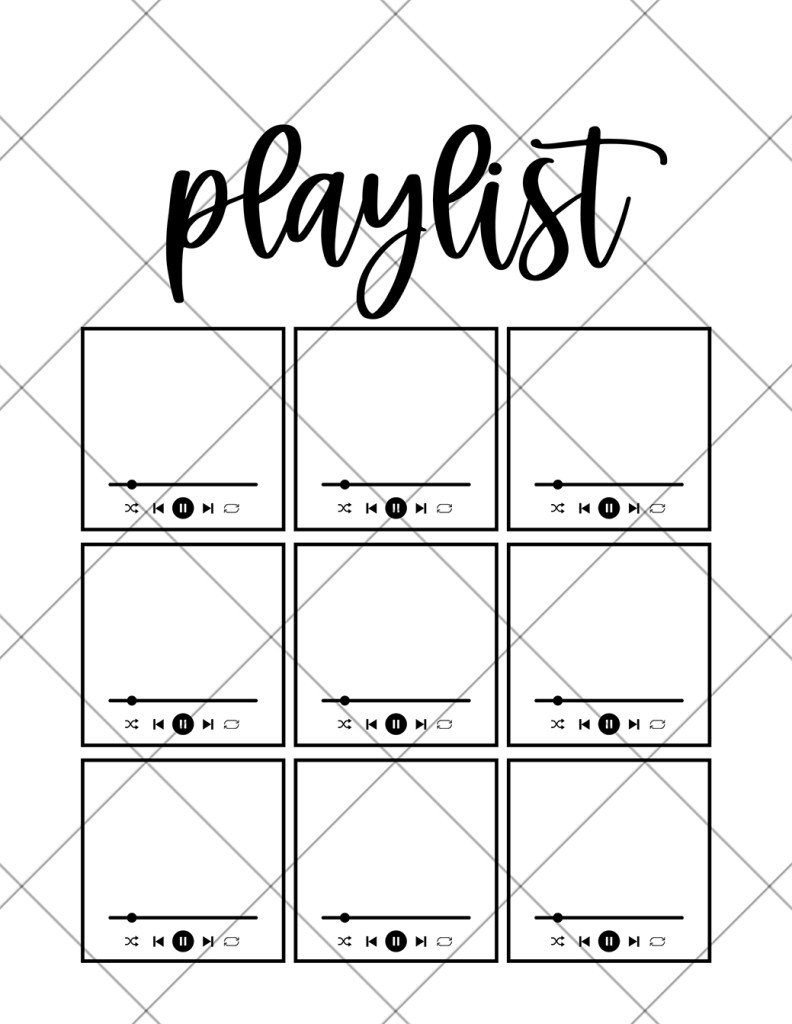 Free Printable Bullet Journal Playlist Tracker at Pineapple Paper Co.