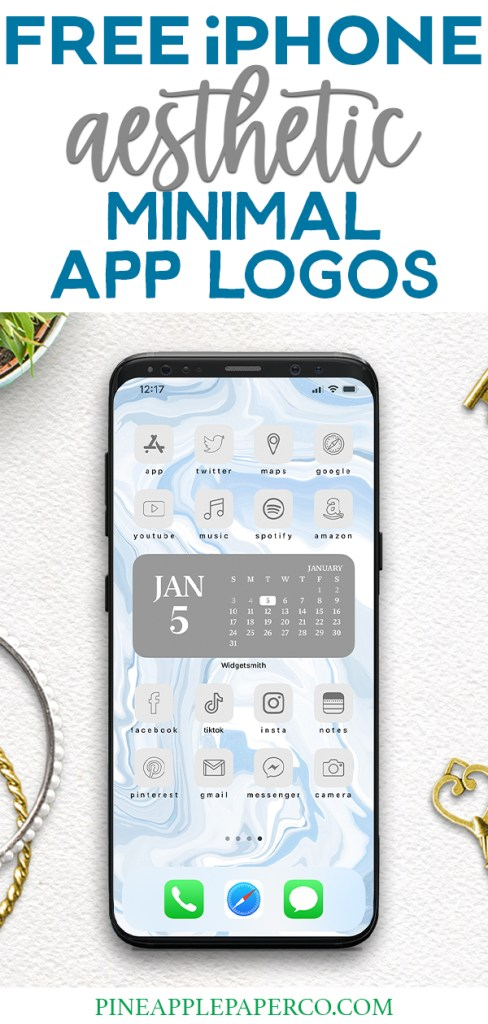 FREE Minimal Aesthetic App Icons for iPhone