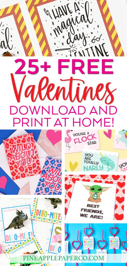 25+ FREE Valentine Card Printables