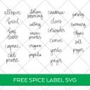 Free Spice Jar Labels SVG
