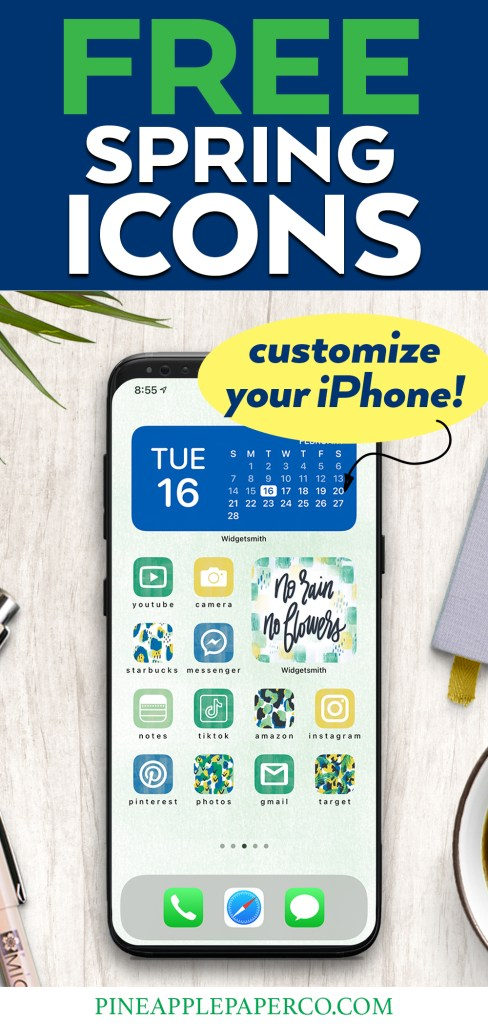 Customize your iPhone with FREE Spring Icons for iOS 14