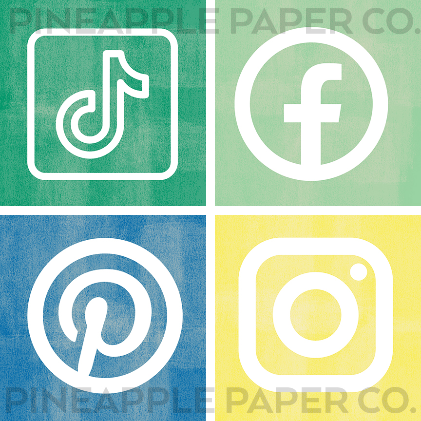 Spring iPhone App Icons with Social Media Logos
