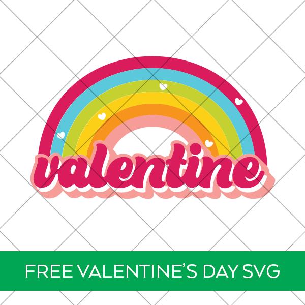 Free Valentine's Day Rainbow SVG File