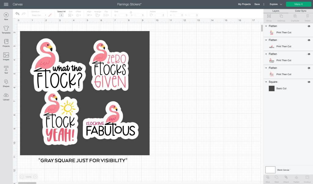 Make Your Own Stickers with the Cricut Offset Tool in Cricut Design Space