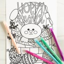 Free Hoppy Easter Coloring Page