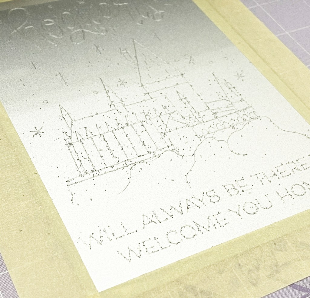 Cricut Maker Engraving Results with Metal Shavings