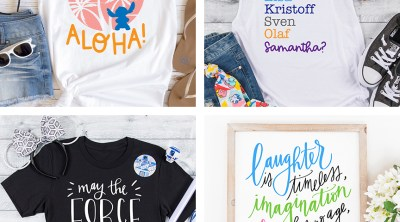 Free Disney SVG Files to Download for your Cricut with DIY Disney Shirts in Frames