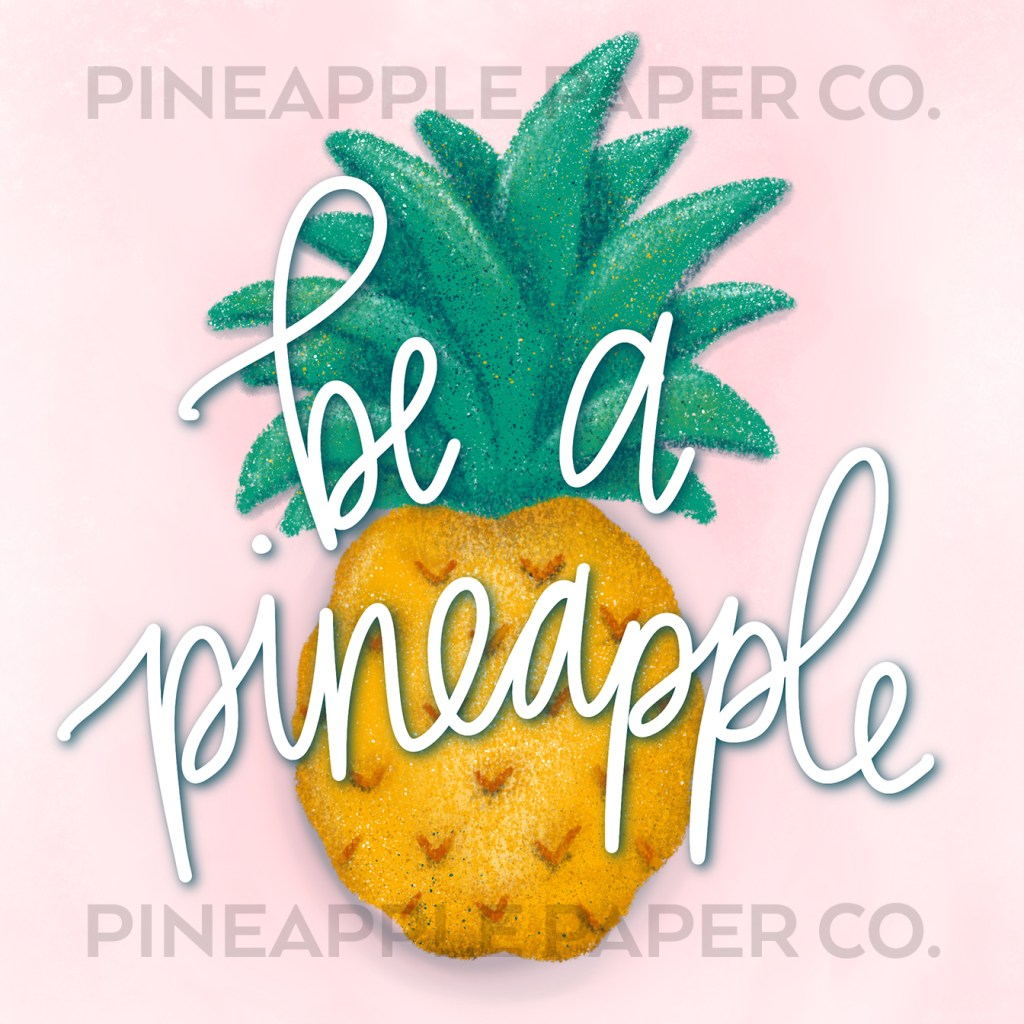 Be a Pineapple iPhone iOS 14 app or widget icon with Pineapple paper Co. watermark