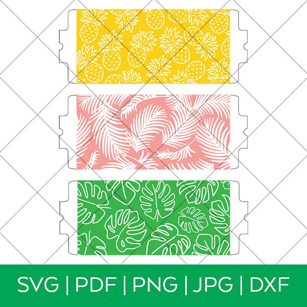 3 Tropical Mug Wrap SVG FIles