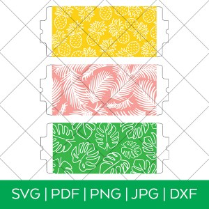 3 Tropical Mug Wrap SVG FIles