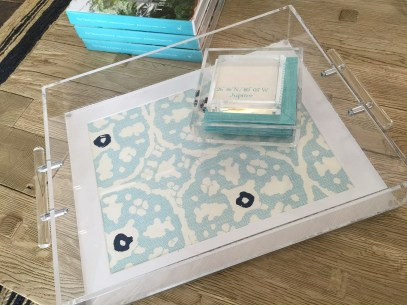 Customizable Lucite Tray