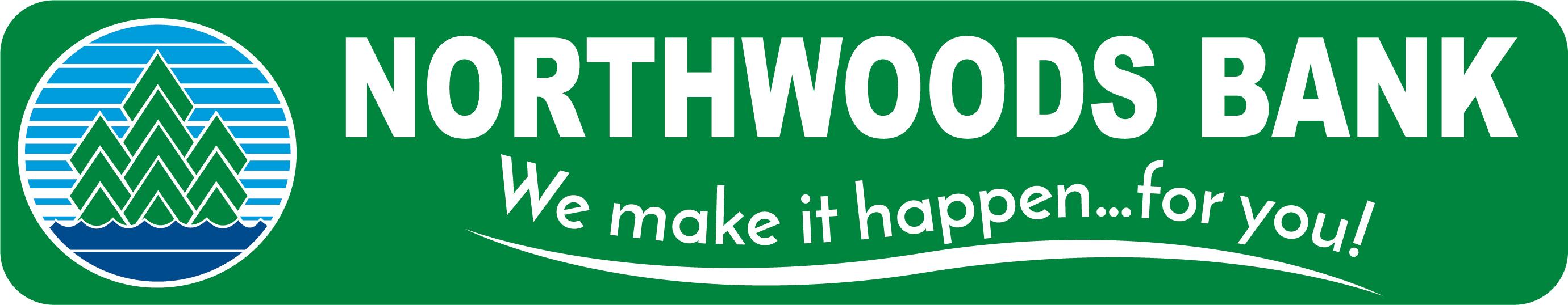 Logo for Northwoods Bank, We Make it Happen