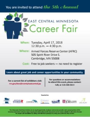 Flyer for April 17th Career Fair