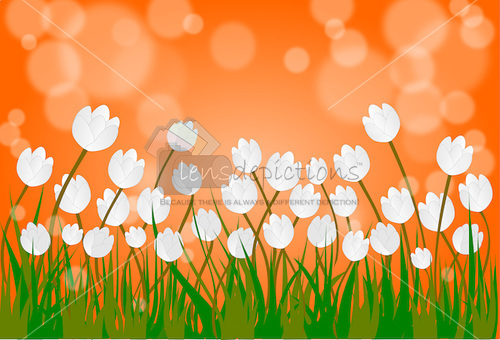 Stock vector - Indian flag colors nature landscape background.