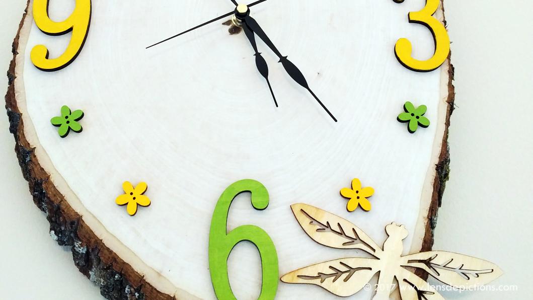DIY Clock with Wood Slice!