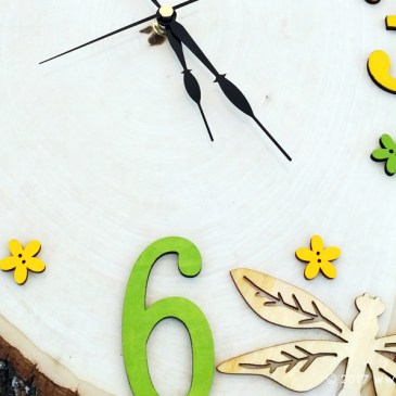 DIY Clock with Wood Slice!