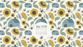 September 2018 desktop wallpaper