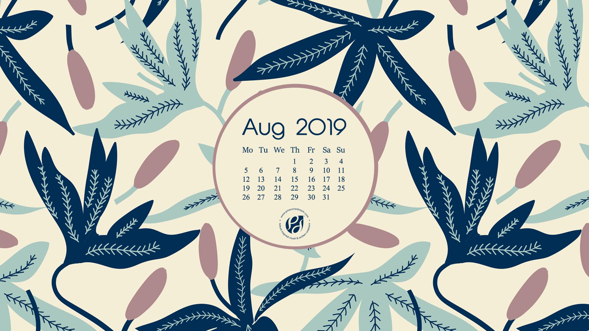 August 2019 Free Calendar Wallpapers Printable Planner