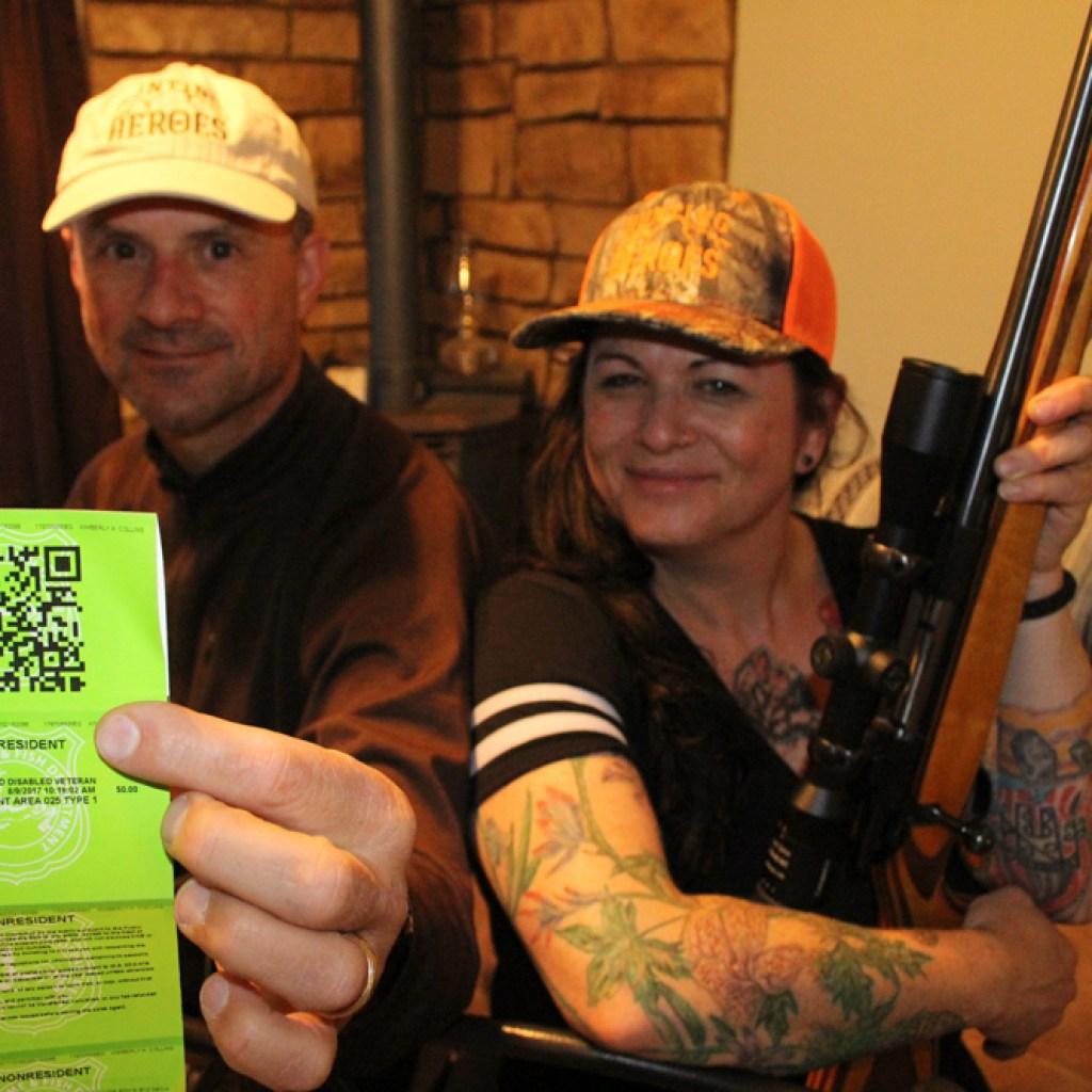 Hunter hands moose tag to army veteran
