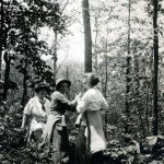 DUPLICATE. Marguerite Butler (left) and two other workers in forest.  X_100_workers_2537.jpg