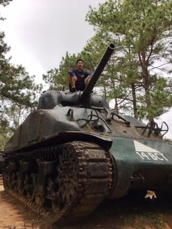 Aboard a tank