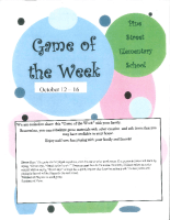 Game of the Week Oct 12 – 18