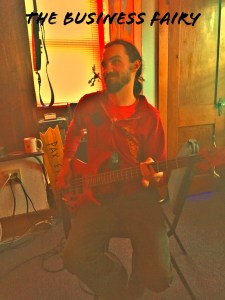 "Kif AKA ""The Business Fairy"" recording his new hit single at Pinetop Recording Studio."