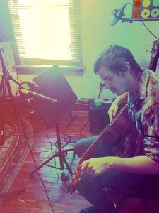 Cory recording at Pinetop Recording Studios in the Poconos
