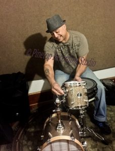 Ruben Ariola playing drums on the studio recordings of Briggie Williams.