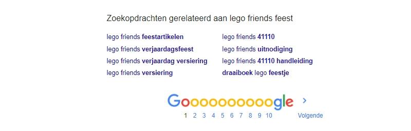 google zoekopdrachten gerelateerd aan