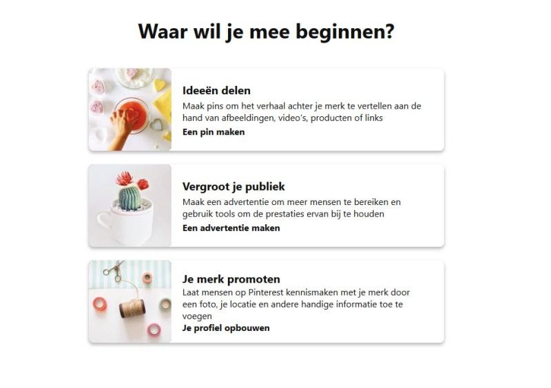 account aangemaakt