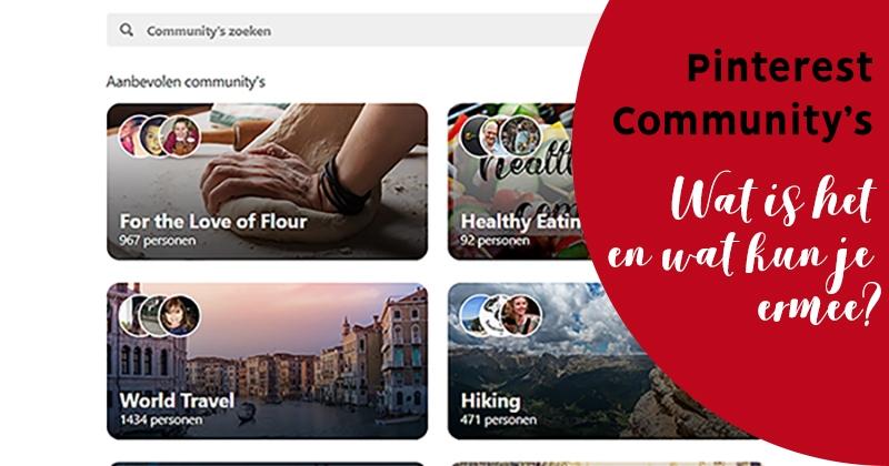 Pinterest communities facebook