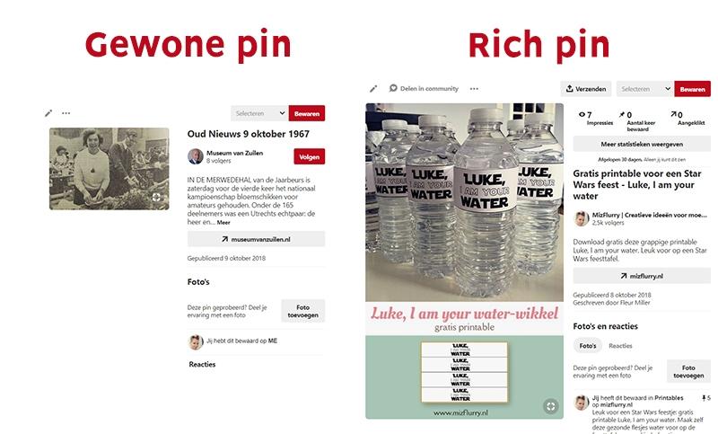 verschil gewone rich pins