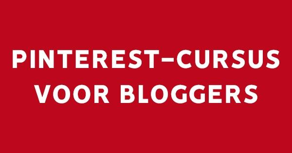 Pinterest-cursus voor bloggers