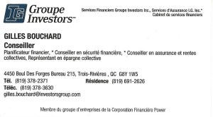 Gilles Bouchard, Groupe Investors