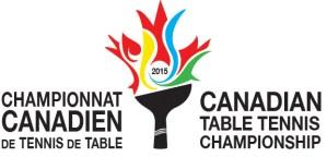 logo Championnats canadiens de tennis de table 2015
