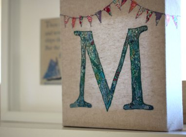 Embroidered Letter M